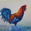 ML-Marg-Smith-Strutting-His-Stuff-oil-8x10-framed