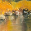 ML Marg Smith - Reflections of Gold -7x9 oil