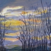 ©Marg Smith -Sunset Gap-9x12 acrylic framed
