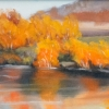 ML Marg Smith -Resting By the River -8x16- oil