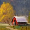 ©ML Marg Smith -  The Red Barn 8x10 oil