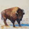 ©Call Me Bill -original oil painting 10x10 by ML Marg Smith