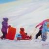 ©Marg Smith - Fresh Snow - 8x10 oil