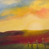 M.L. Marg Smith - Last Rays 16x20 acrylic and oil, -sold-