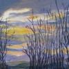 ©Marg Smith -Sunset Gap-9x12 acrylic framed