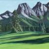 M.L.-Marg Smith- Alpine Meadow -acrylic-9x18