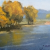 (c)ML-Marg Smith-Reflections-In-the-Water-en-plein-air-8x10-oil